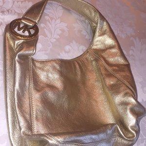 Michael Kors Metallic Leather Bag